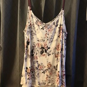 White floral cami . Just the top